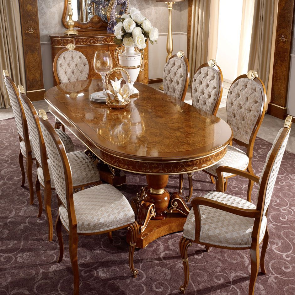 Signorini Coco Classic Italian Furniture Bellagio Collection Furniture Dining Table Traditional Dining Rooms