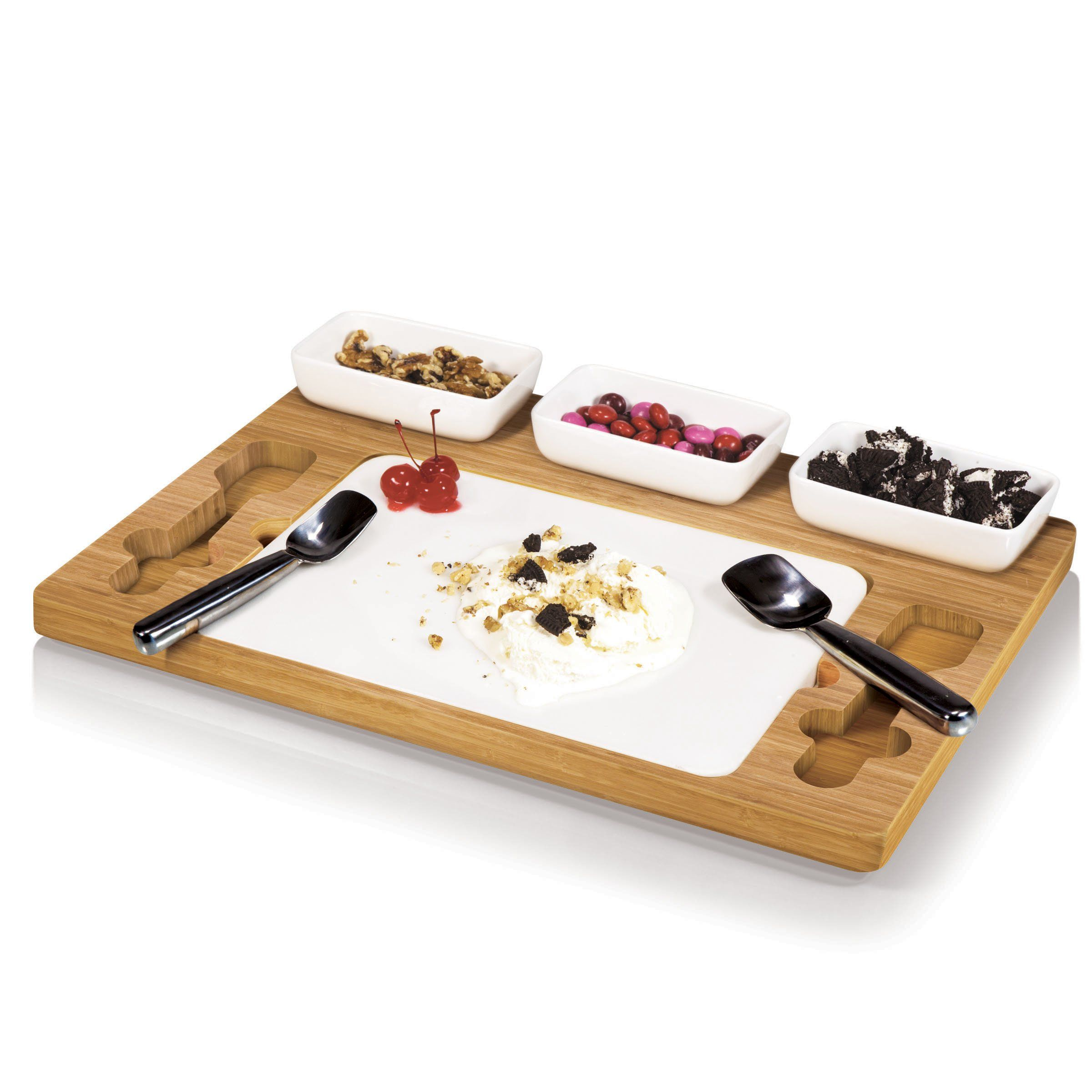 Amazon.com | Picnic Time Parlor Ice Cream Mixing/Serving Set: Serving Trays