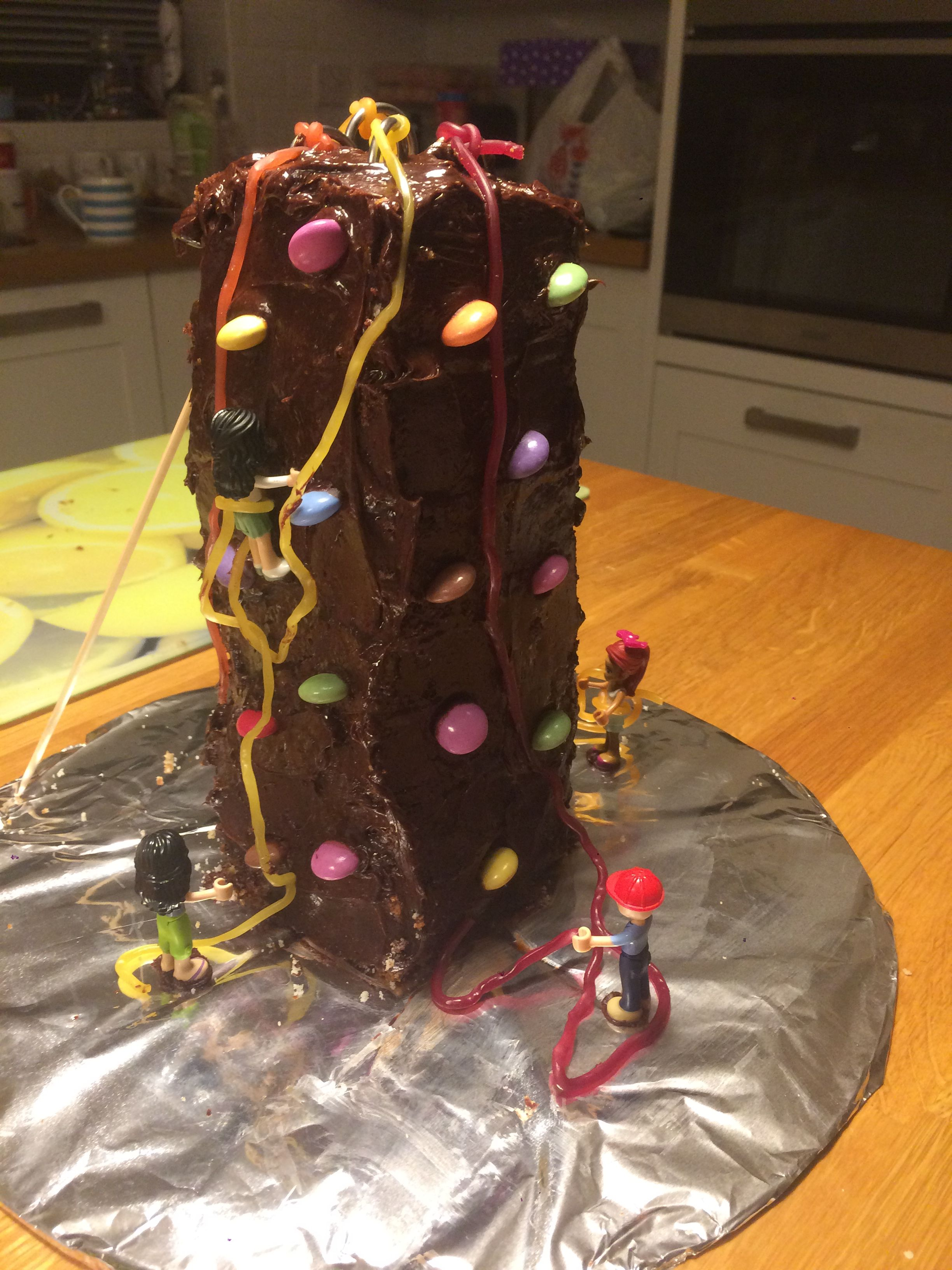 Ellas rock climbing cake 8th birthday rock climbing