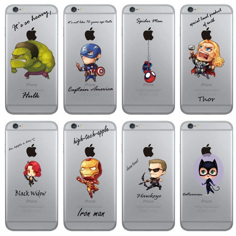 sale retailer 03bb2 663c3 Details about Marvel Avengers Superhero Pattern Clear Case Cover For ...