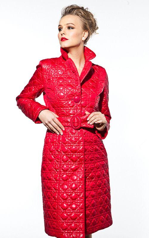 Красное женское пальто (104 фото): какой шарф, шапку ...