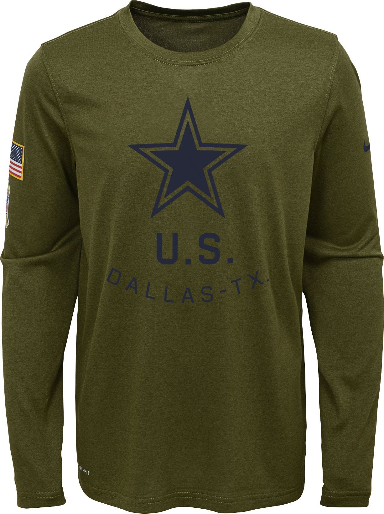 promo code d549c ecdaa Nike Youth Salute to Service Dallas Cowboys Legend Long ...
