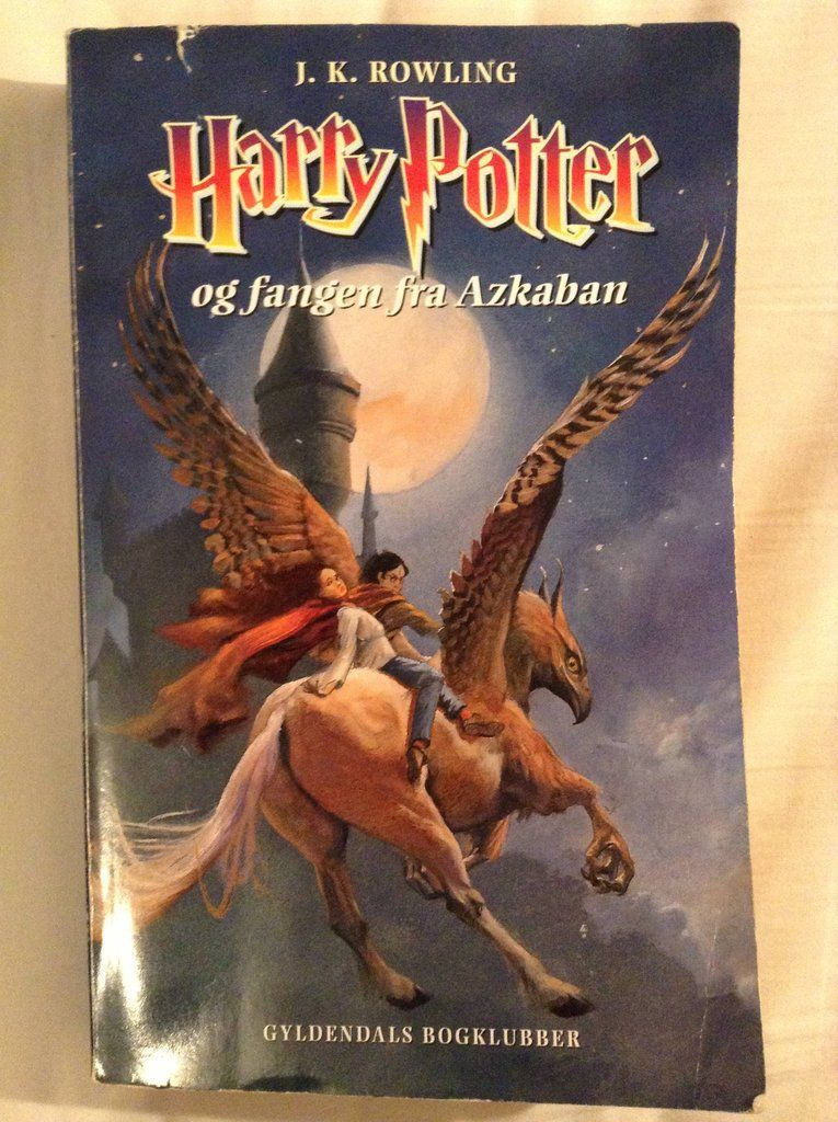 Danish Harry Potter And The Prisoner Of Azkaban Book Cover Prisoner Of Azkaban Book Harry Potter Book Cover