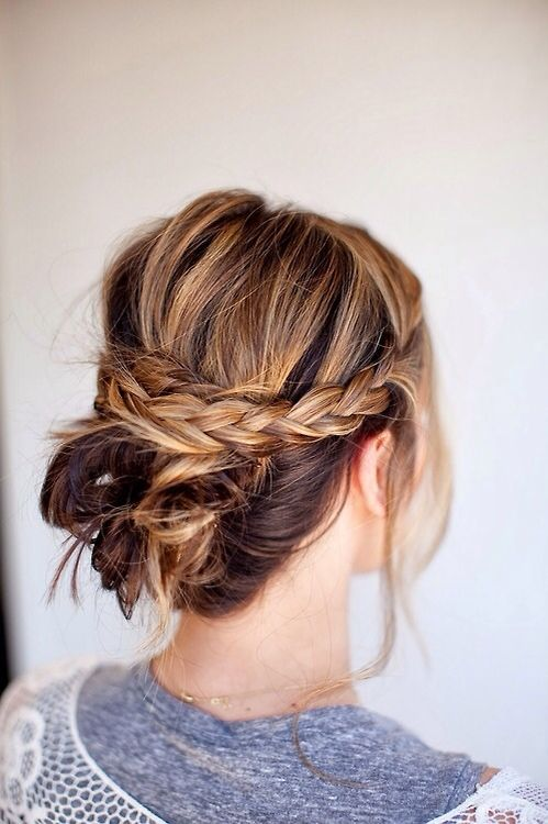 Braid And Messy Bun Hairy Maclary Pinterest Frisur