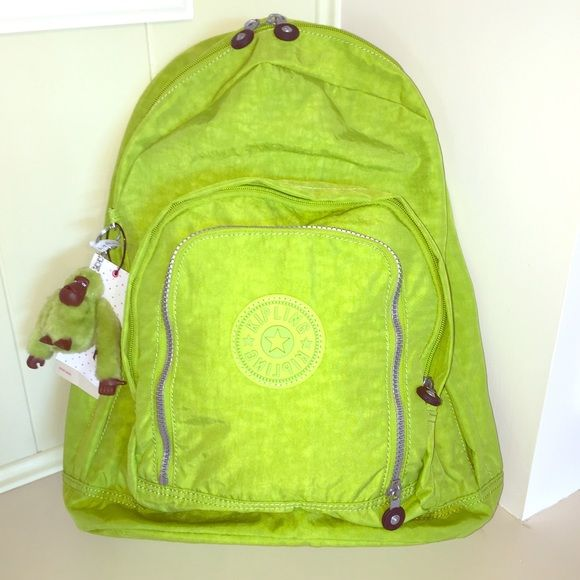 52ee01a7d51 💥NEW💥Kipling Backpack in Citron Lime Green Brand NWT gorgeous bright and  functional Kipling