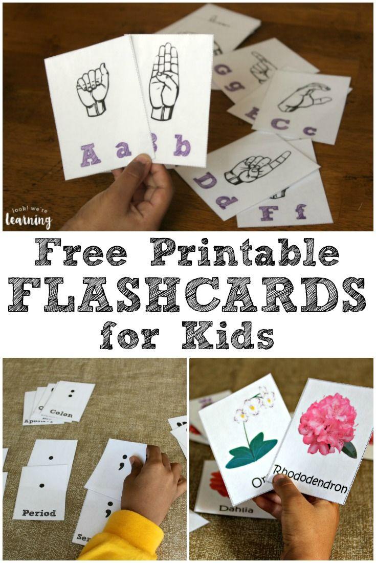 free printable flashcards for kids flashcard homeschool and rh pinterest com
