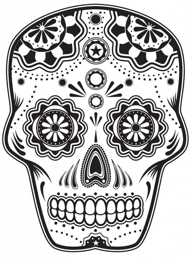 Sugar Skull Coloring Pages to Print Free Agent Oso Coloring