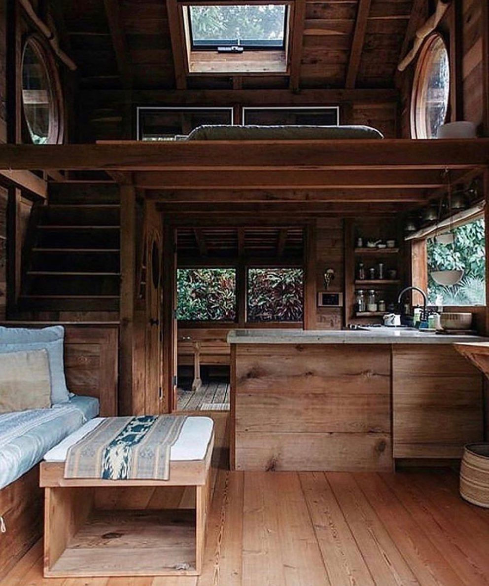 "Travel • Nature • Tiny Homes on Instagram: ""Follow @lovetinyhome for more daily posts! - Do you like this natural look?🌲😍 📸:?"""
