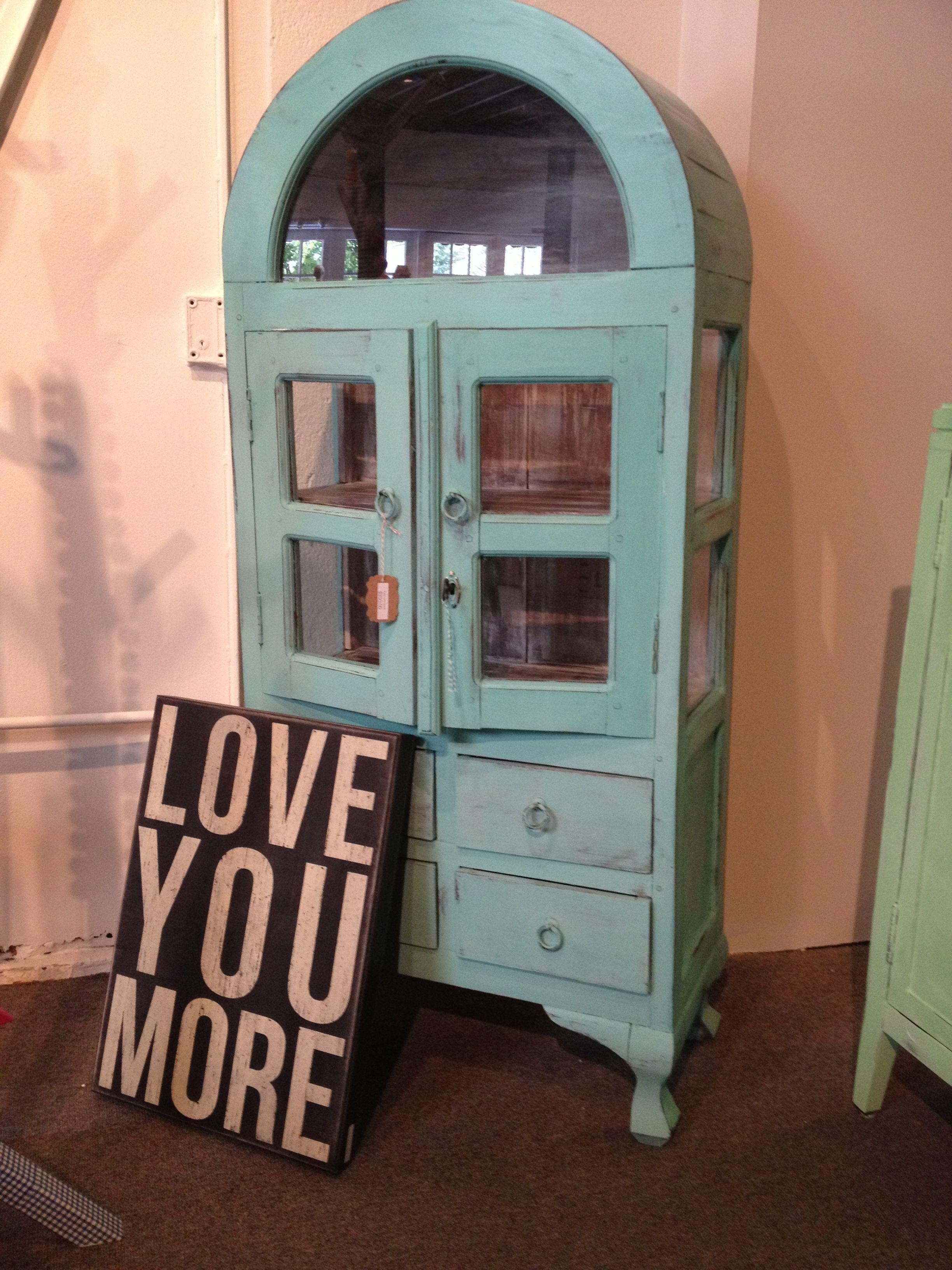 Tiffany blue curio cabinet | Chalk Paint  Pieces ...