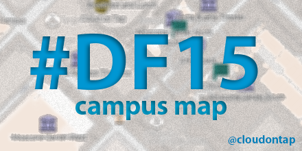 Check out the Dreamforce 2015 campus map from Cloud on Tap ... on