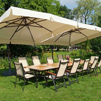 Etonnant The Sun Garden 10.5 Ft. Square Cantilever Umbrella With Valance Creates An  Inviting Atmosphere For Both Dining And Deep Seating Collections.