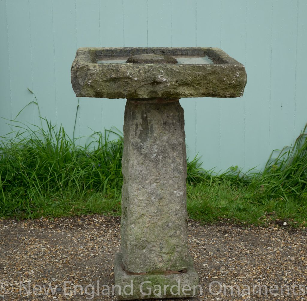 Large Antique Stone Birdbath New England Garden Ornaments Bird Bath Stone Bird Baths Rustic Bird Baths