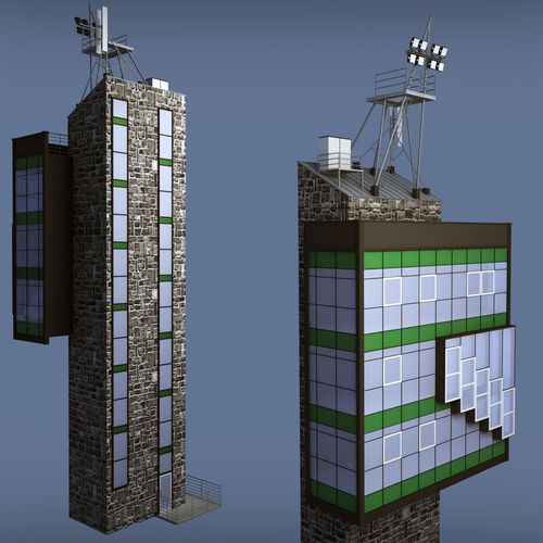 Industrial Glass Light Tower 3d Model Tower Architecture Exterior 3d Model