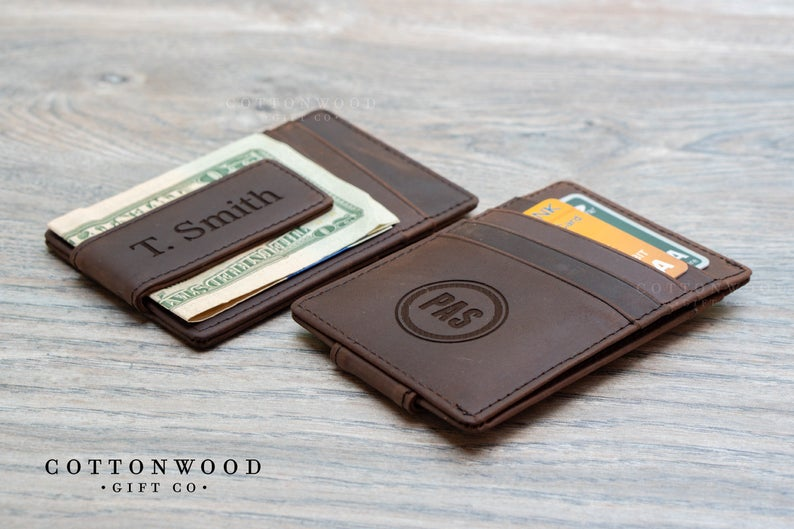 Custom Photo Wallets Mens Wallet Leather Wallet Money Clip for Boyfriend Gift Husband Gift Valentines Day or Groomsmen Gift