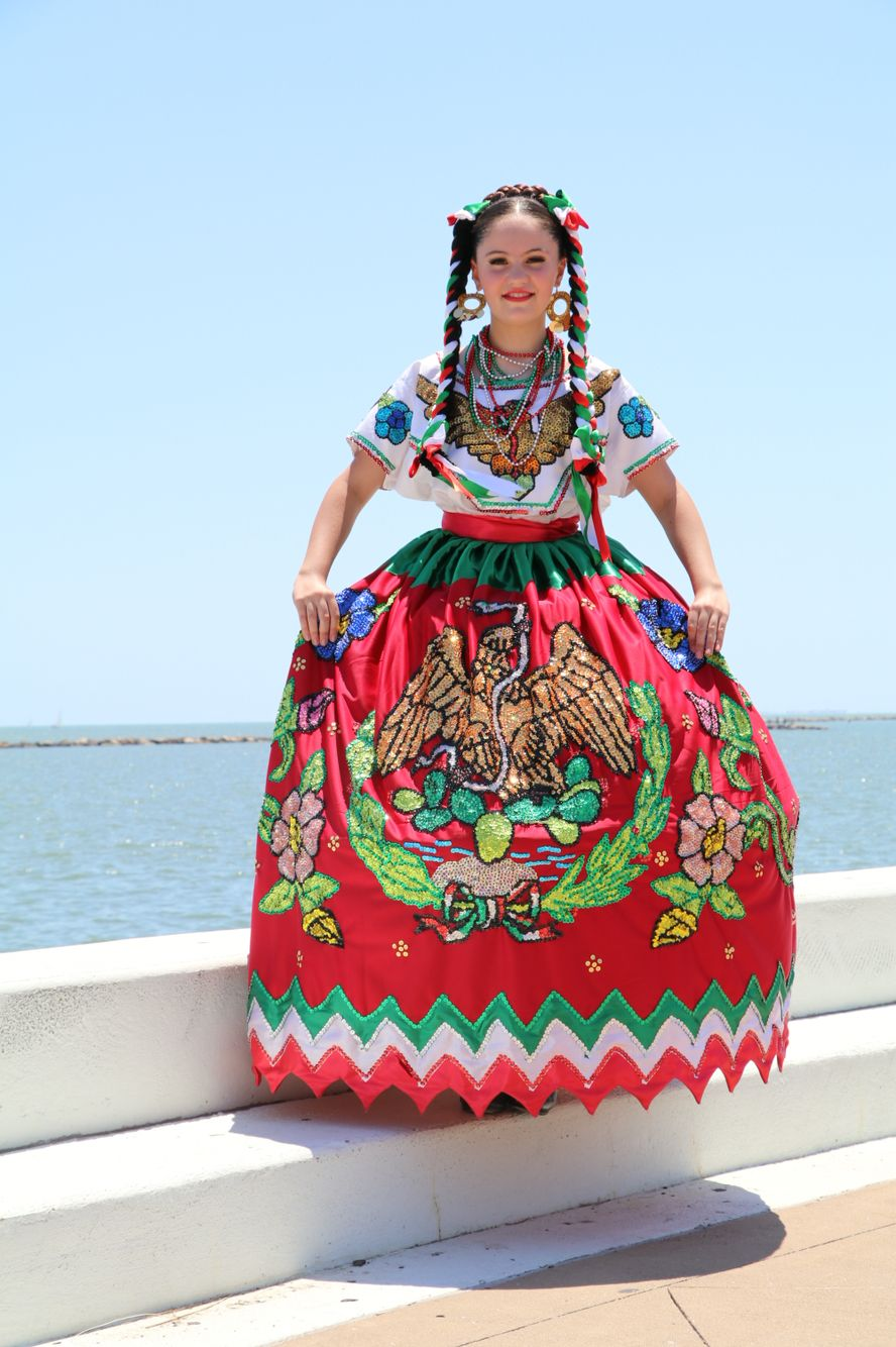 Puebla China Poblana Vestido De China Poblana Vestidos