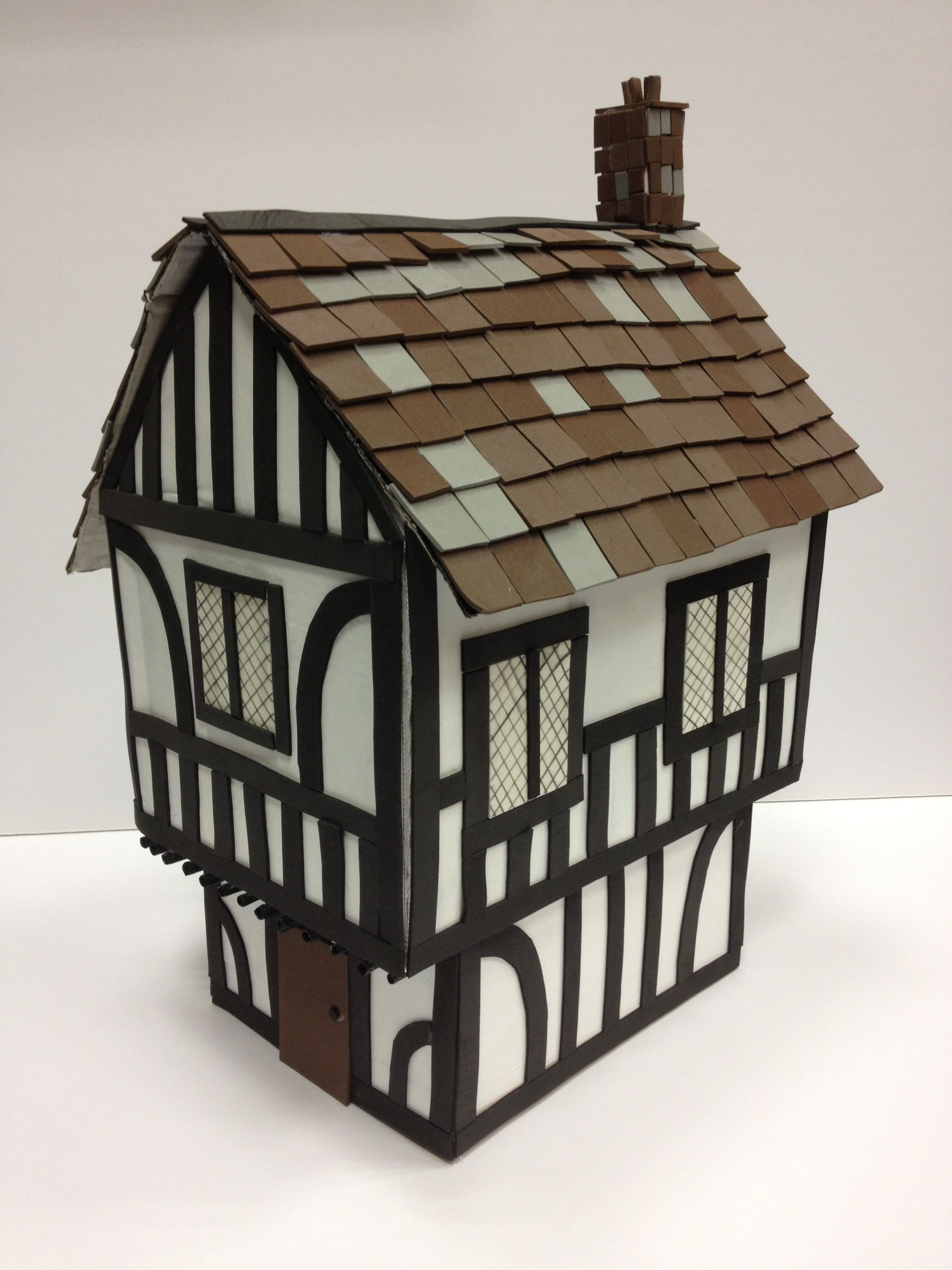 Tudor house project hobbycraft blog popsicle stick - What makes a house a tudor ...
