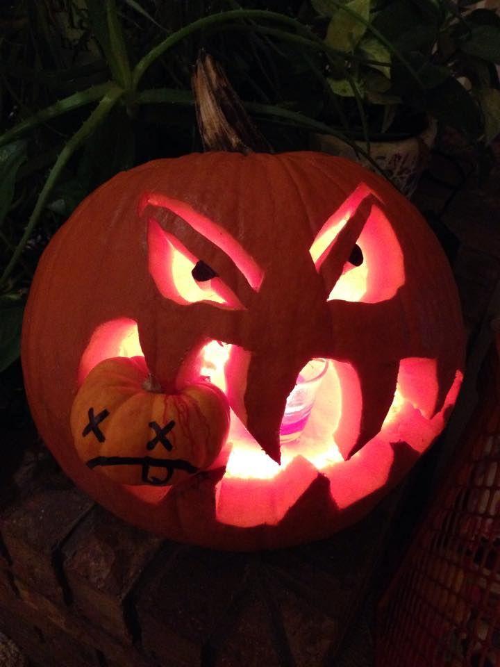 Pumpkin eating another pumpkin. pumpkin eater | Pumpkin