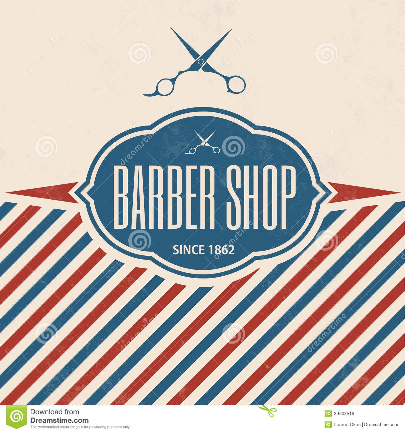 Antique barber shop sign - Retro Barber Shop Vintage Template Grunge Texture 34603519