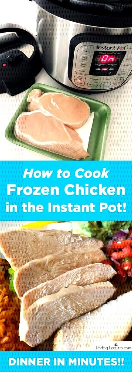 How to Cook Frozen Chicken Breasts the Instant Pot. Fast and easy pressure cooker chicken recipe. H