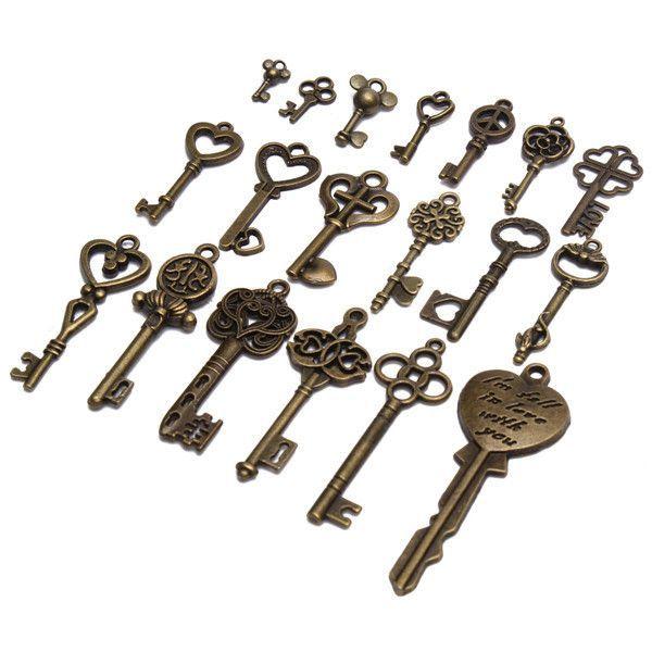 Zinc Alloy Keys Cabinet Lock Keys Antique Style Key