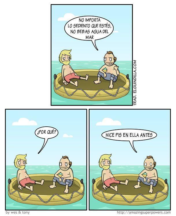 No Bebas Agua Del Mar With Images Funny Jokes Memes Funny