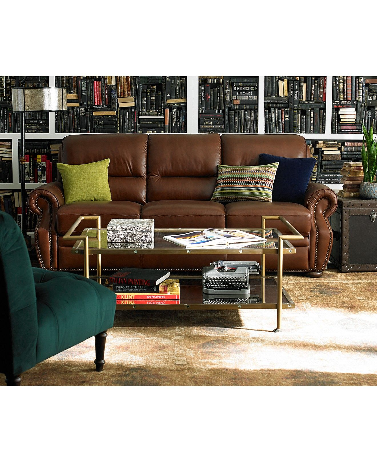 Shop For Living Room Furniture: Royce Leather Sofa Living Room Furniture