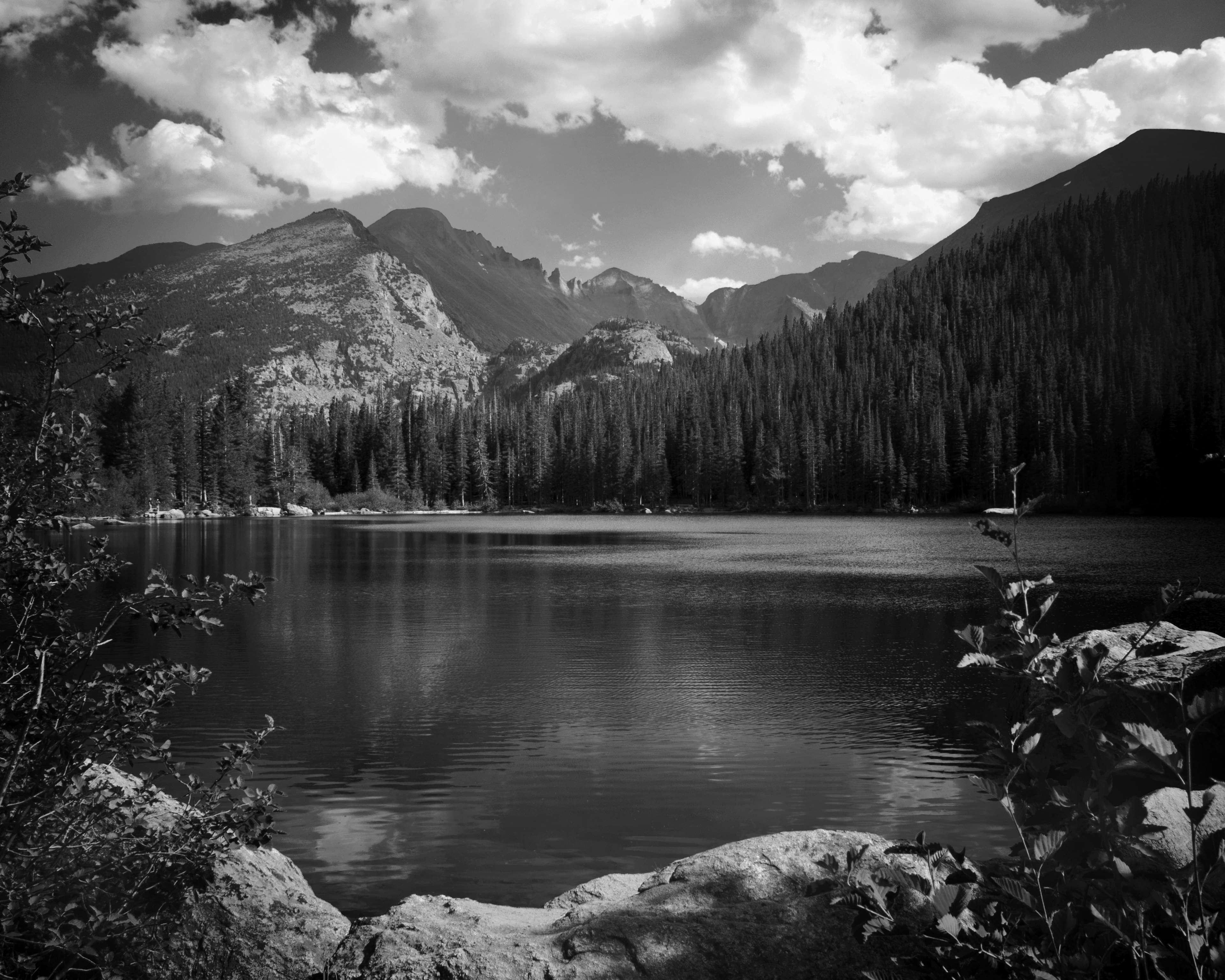Black And White Black And White Clouds Forest Lake Landscape Monochrome Mountain Nature Outdoors Placid Rocks S Nature Photos Scenic Scenic Photos