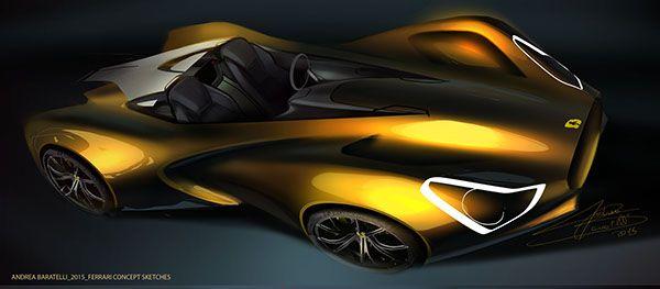 Ferrari concept sketches on Behance