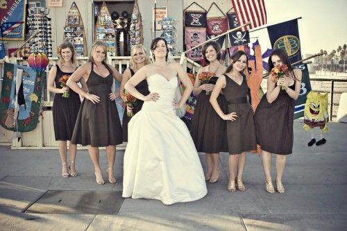 Brown Bridesmaids Dresses