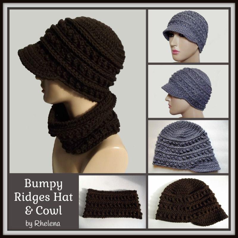 Bumpy Ridges Hat & Cowl ~ FREE Crochet Pattern | Hüte, Mütze und Häkeln