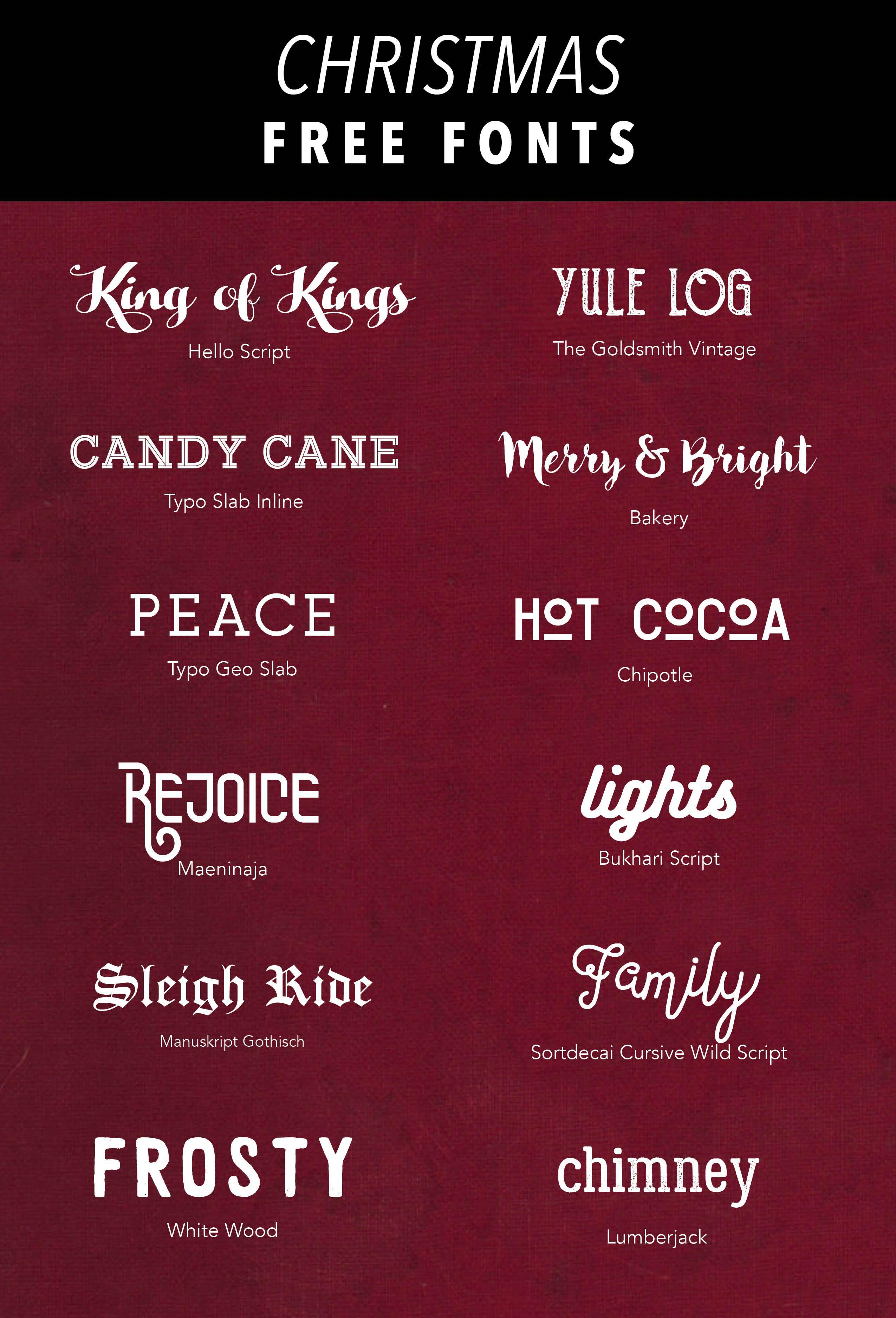 SIMPLE SANCTUARY | Free Christmas Fonts | http://www.simplesanctuaryblog.com