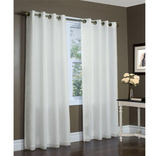 104 Quot X 84 Quot Ivory Thermavoile Rhapsody Semi Sheer Lined