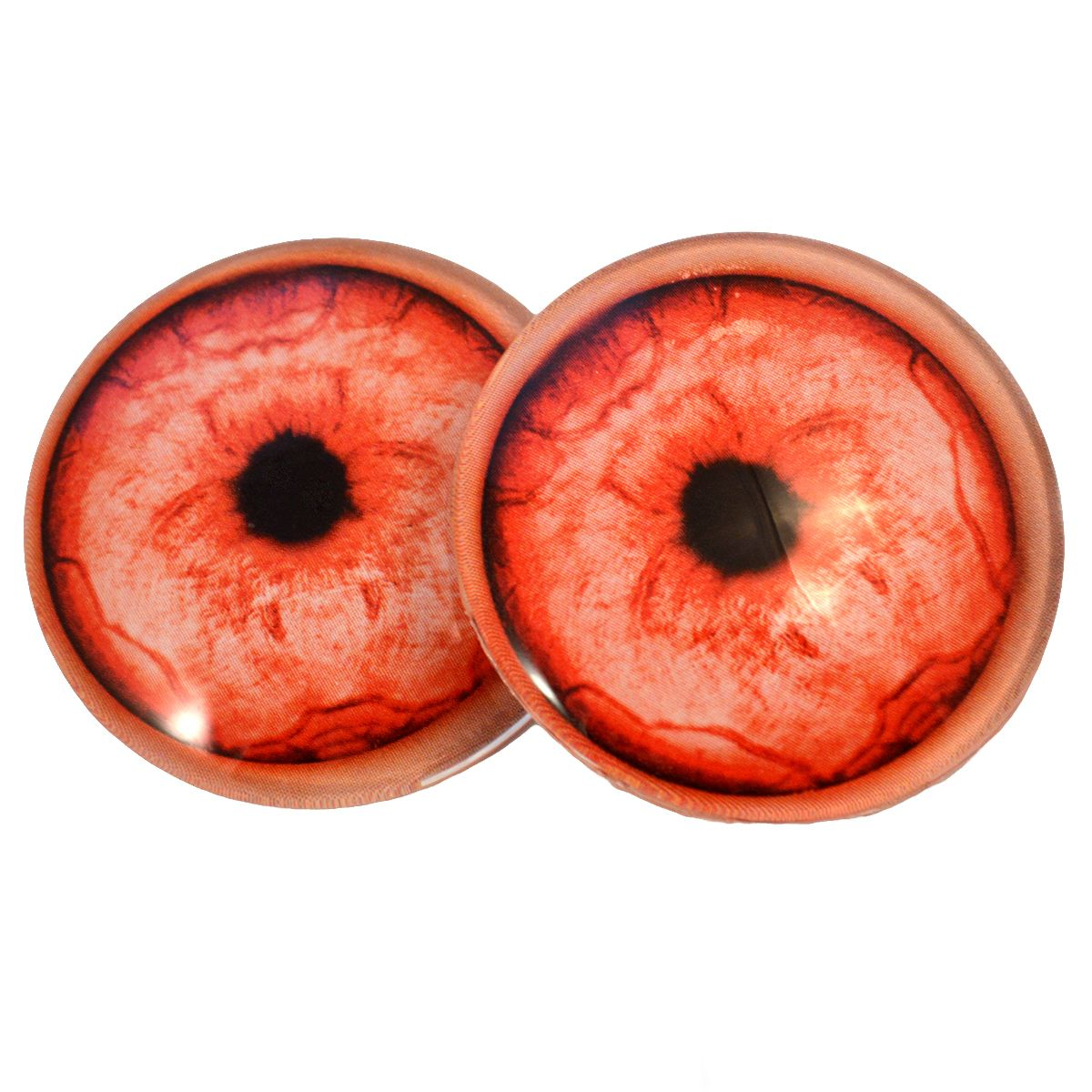 Jewelry Making Doll Making Pair of 40mm Yellow Owl Glass Eyes Cabochons Set