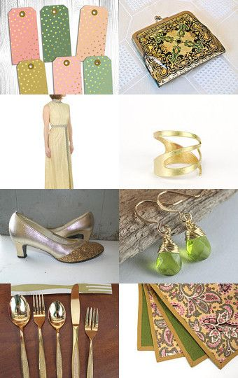Little Gold Surprizes by Marty McI on Etsy--Pinned with TreasuryPin.com