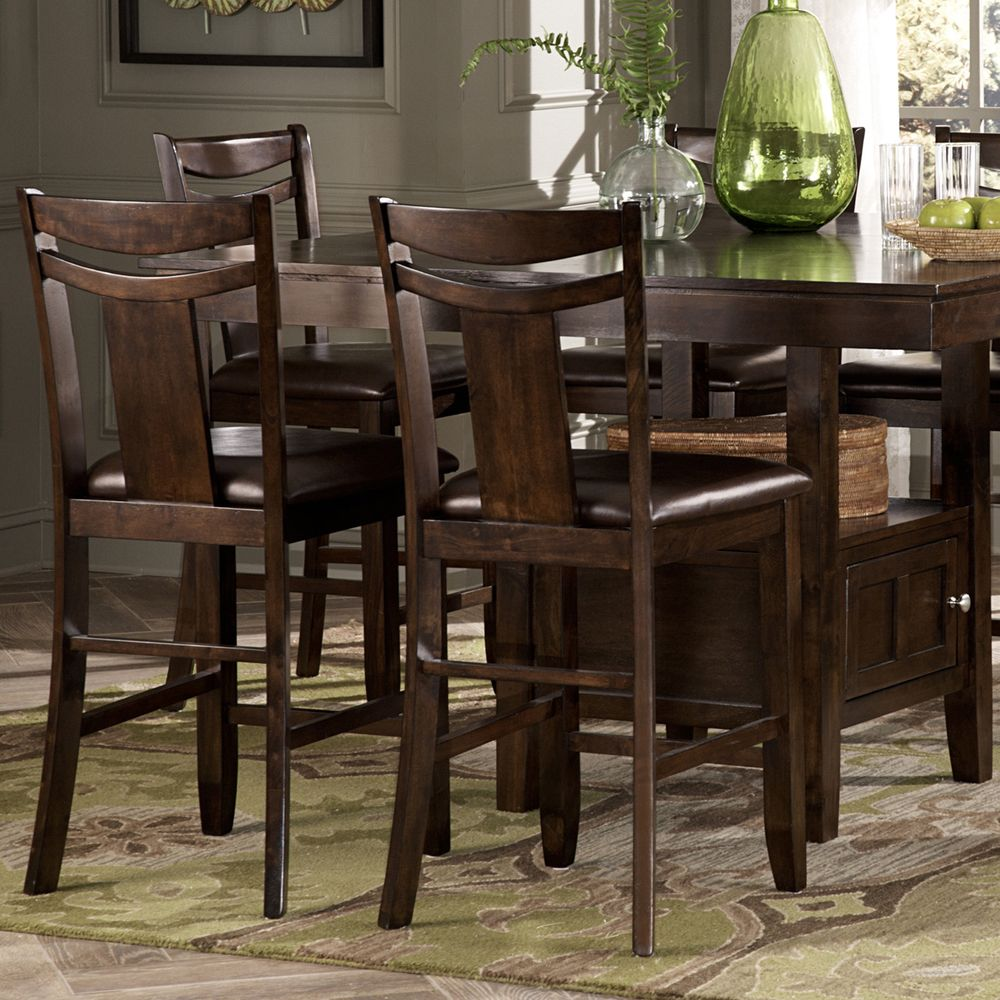 Shop Tribecca Home Decor Faux Alligator Print Dining Chair: TRIBECCA HOME Marsden Rustic Brown 7-piece Mission Counter