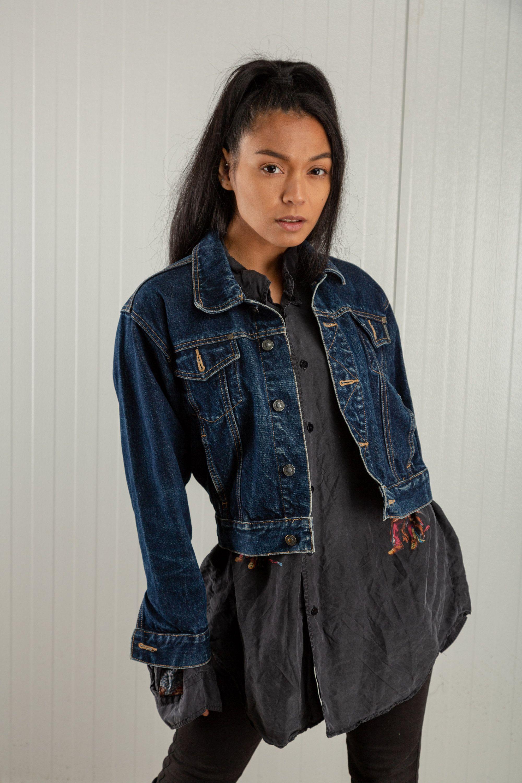 Vintage Cropped Denim Jacket 80s Faded Trucker Jean Jacket Etsy Vintage Denim Jacket Grunge Denim Jacket Grunge Denim Jacket Women [ 3000 x 2000 Pixel ]