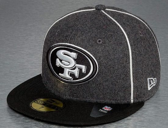 wholesale dealer 84771 a25ad ... gray brim black white logo 34997 2a2ed  low price san francisco 49ers  piping 59fifty fitted cap by new era x nfl 8aba9 0e55d