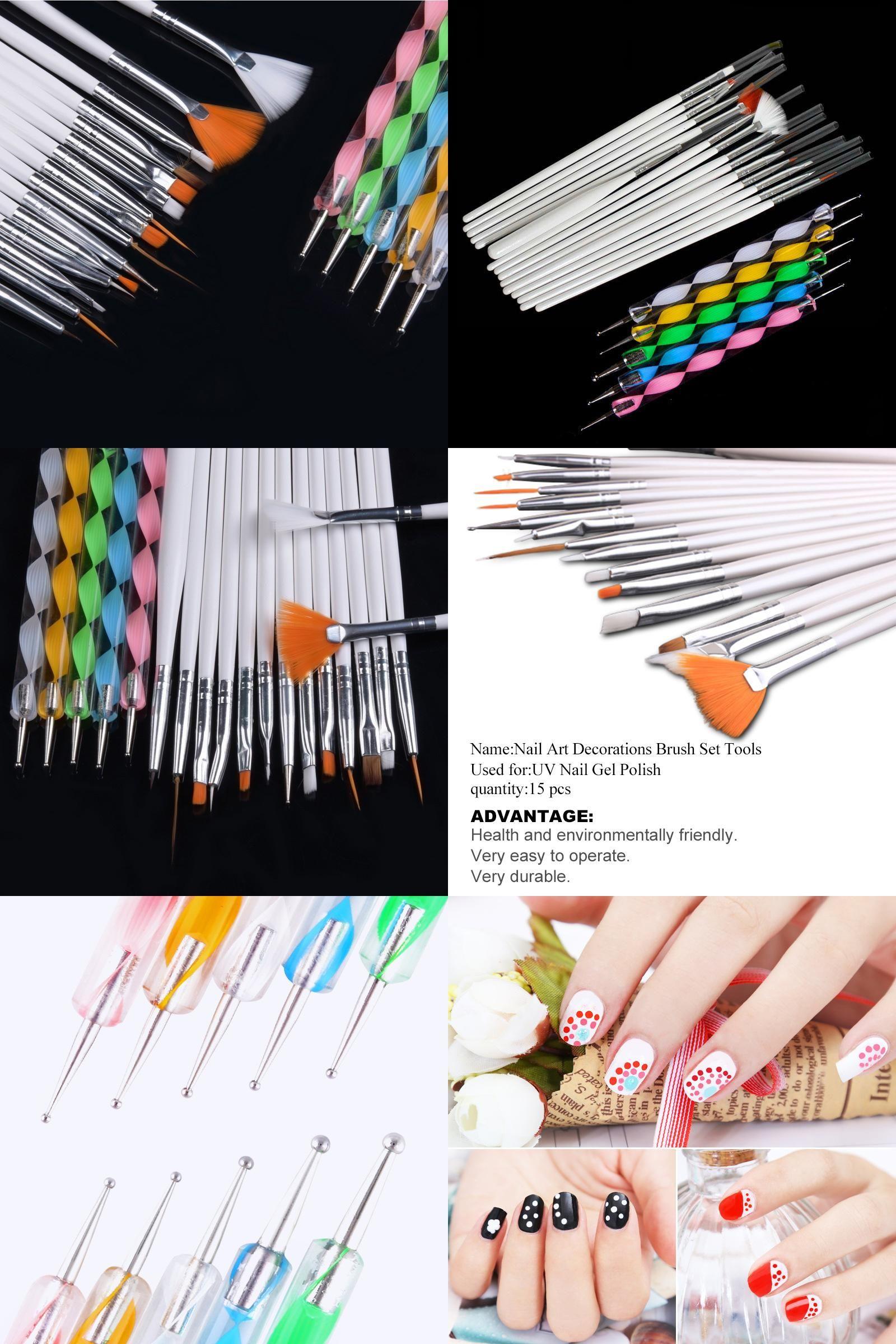 [Visit to Buy] Saviland 20pcs/set Nail Art Painting Tool