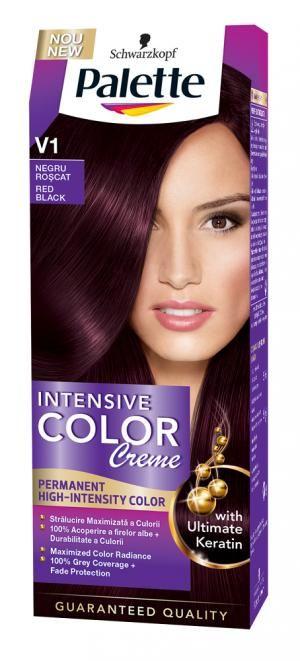 Vopsea De Par Palette Intensive Color Creme V1 Negru Roscat 800