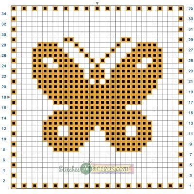Free Pattern - Filet Crochet Butterfly Motif Chart