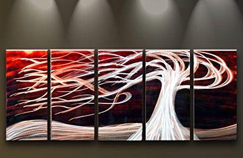 D coration murale m tal moderne art peint la main - Deco murale contemporaine ...