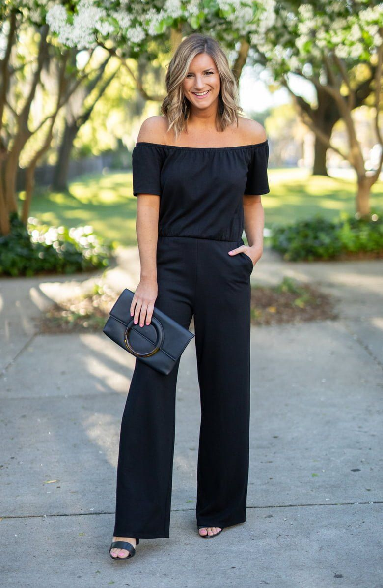c443d3b1fa Ponte-knit fabric enhances the drape of this jumpsuit, styled with an off-