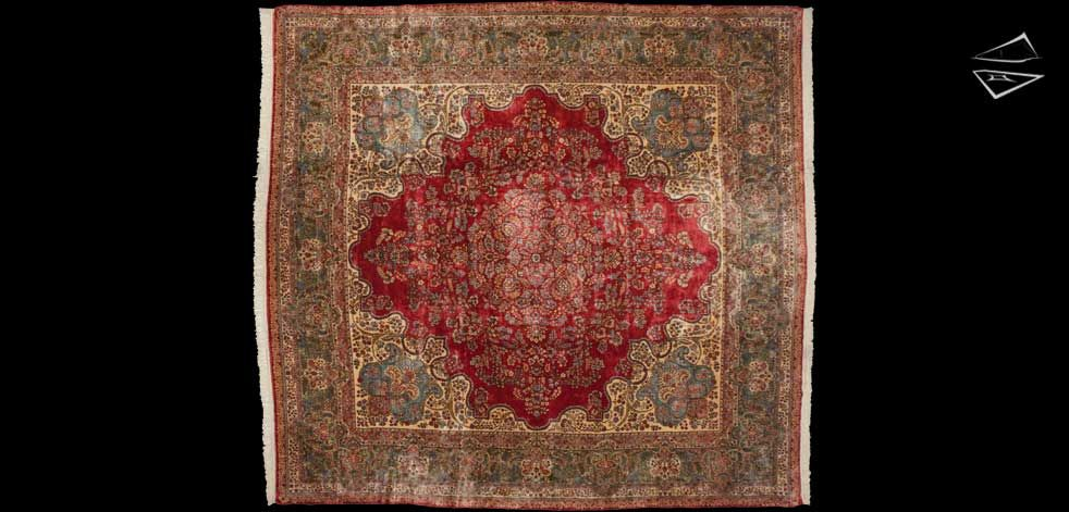 13 14 Persian Kerman Square Rug Rugs Rugs On Carpet Large Rugs