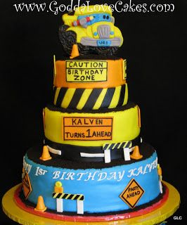Baby First Construction Pal Birthday Party Cake Lets start off