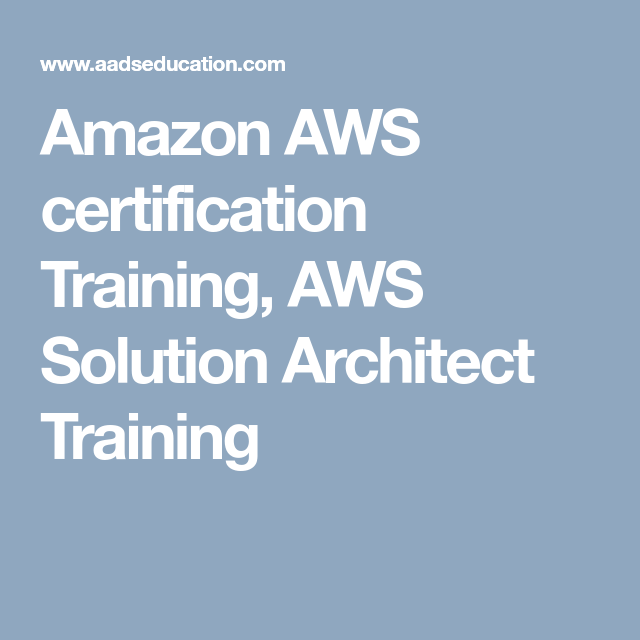 Get Hands-On #Amazon AWS certification Training from Industry Expert ...
