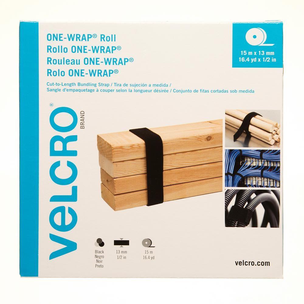 Velcro Brand 16 4 Yd X 1 2 In One Wrap Strap In Black Craft