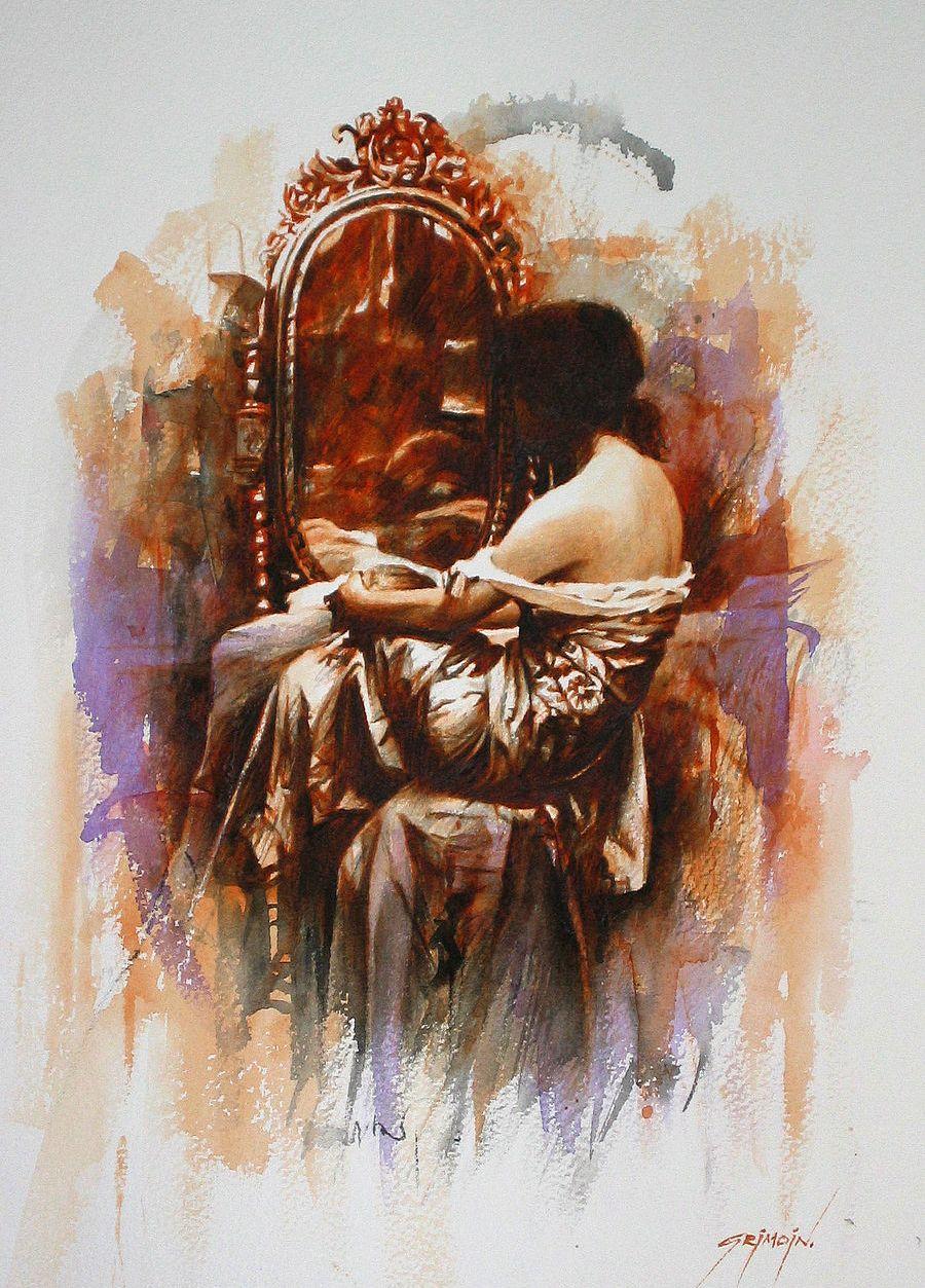 Gilles Grimoin Art Aquarelle Et Miroir