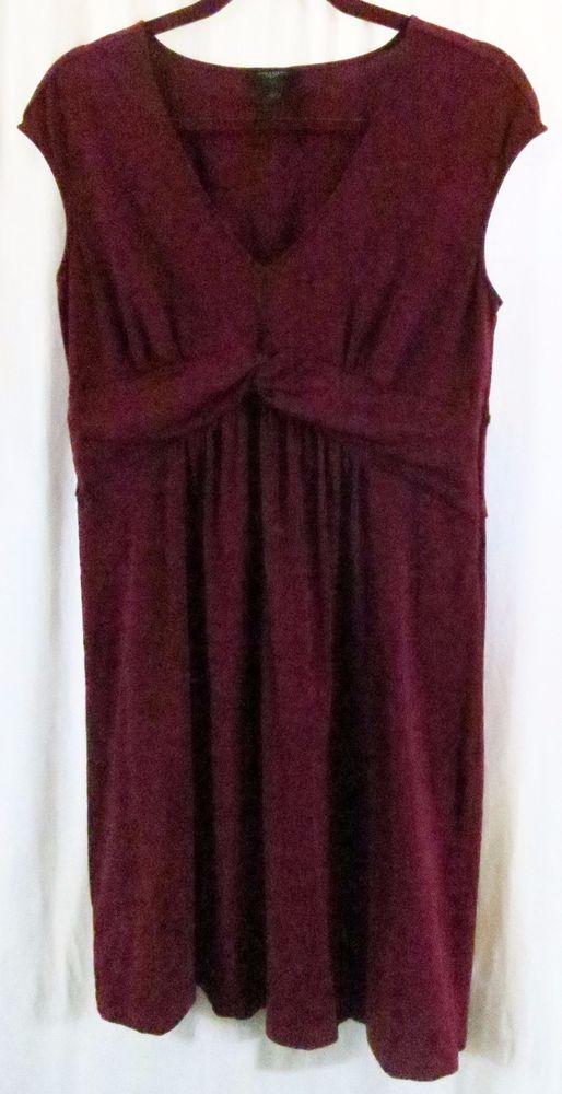 3021574f31100b Ann Taylor M Maroon Sleeveless Dress  AnnTaylor  EmpireWaist  Clubwear