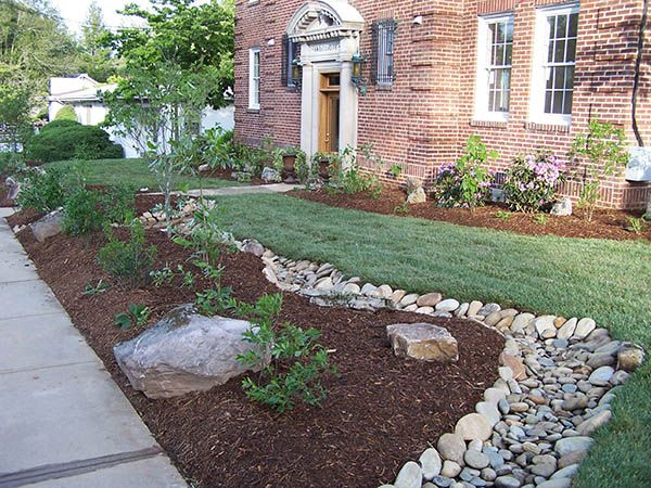 dry bed landscape ideas . rain