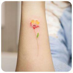 small flower :-) - #타투 #그라피투 #tattoo #graffittoo